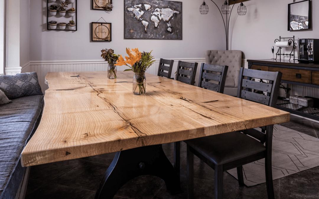 Oak Live Edge Dining Table