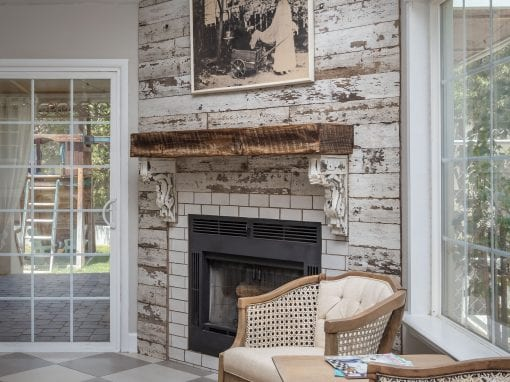 Reclaimed Wall and Box Mantel