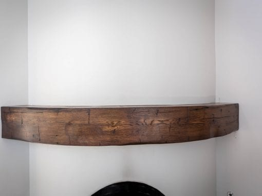 Reclaimed Curved Mantel