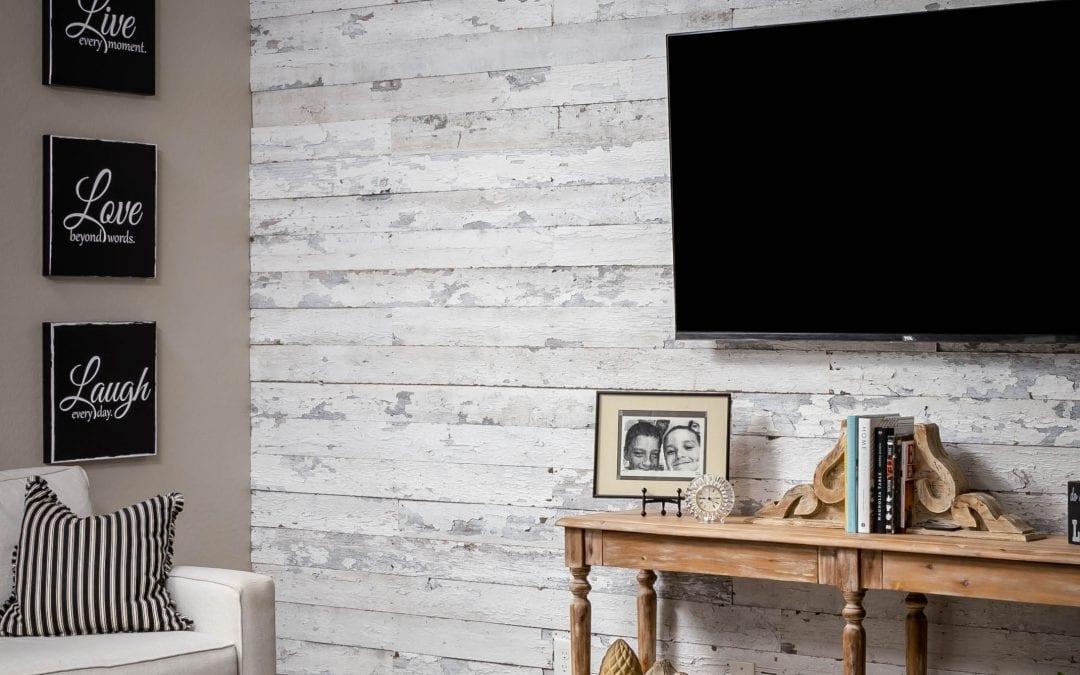 Speckled White Living Room