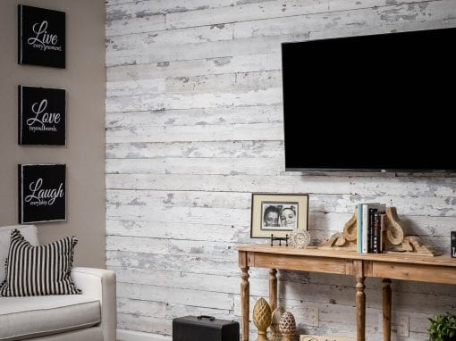 Speckled White Living Room