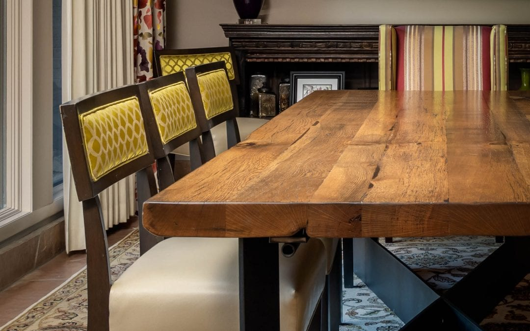 Reclaimed Oak Joist Dining Table