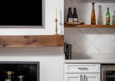 Living Room Mantel & Shelves