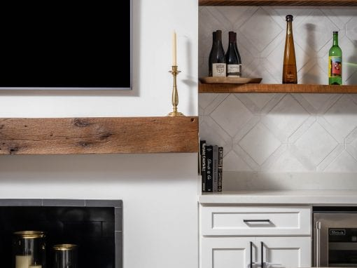 Living Room Mantel & Shelves