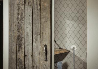 Sliding Door & Live Edge Floating Vanity