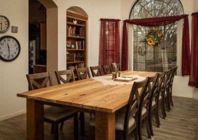 Traditional Mixed Hardwoods Table