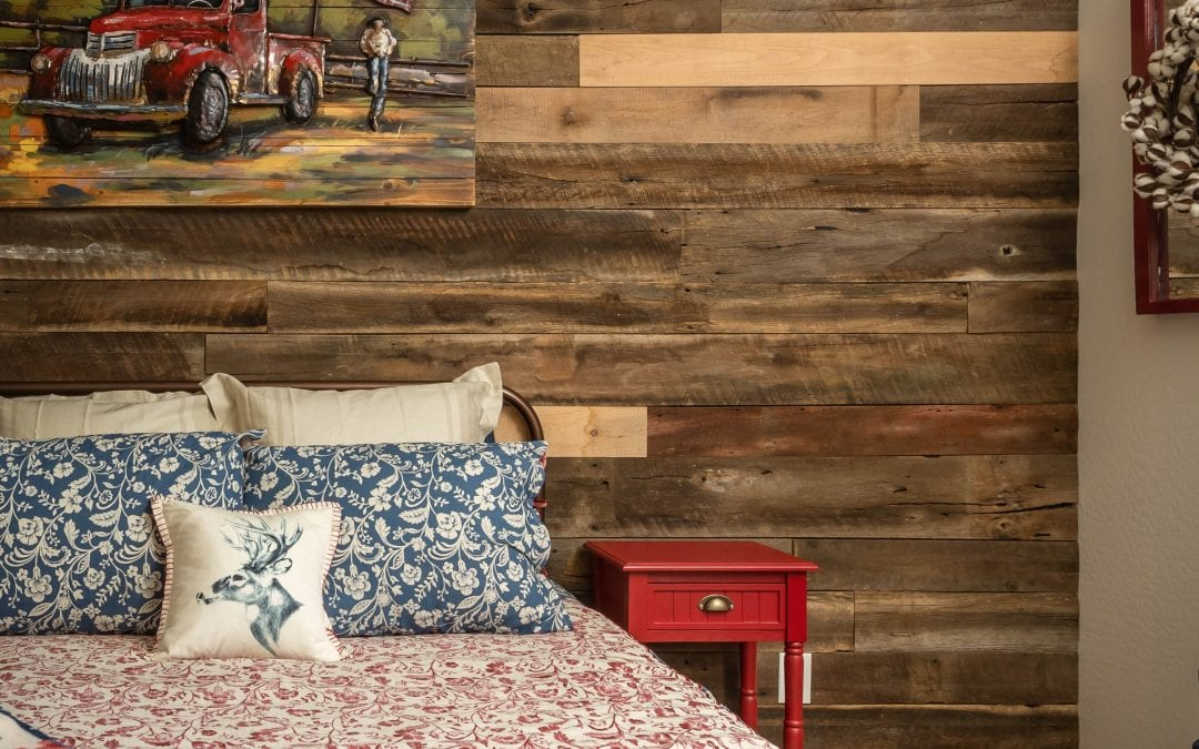 Guest Bedroom Reclaimed Wall