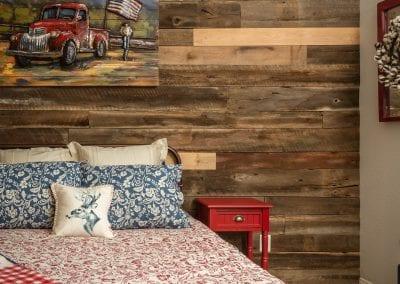 Guest Bedroom Reclaimed Wall