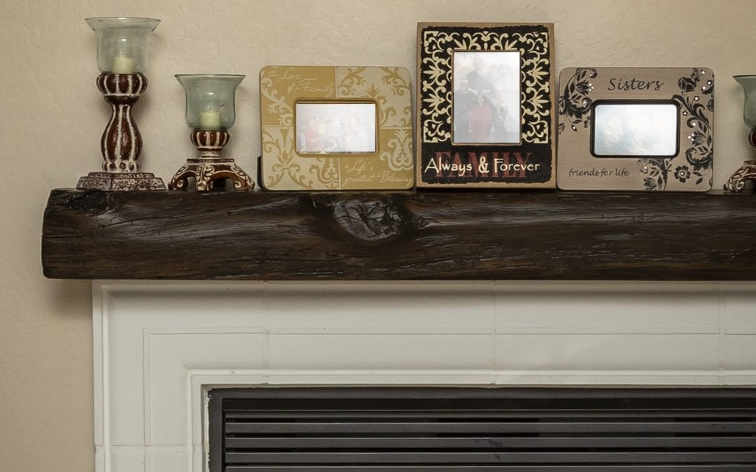 Reclaimed Oak Handhewn Mantel