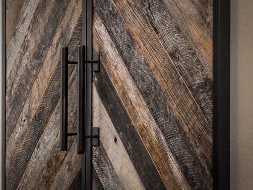 Chevron Bi-Part Sliding Doors