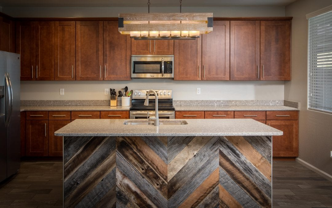 Chevron Reclaimed Island