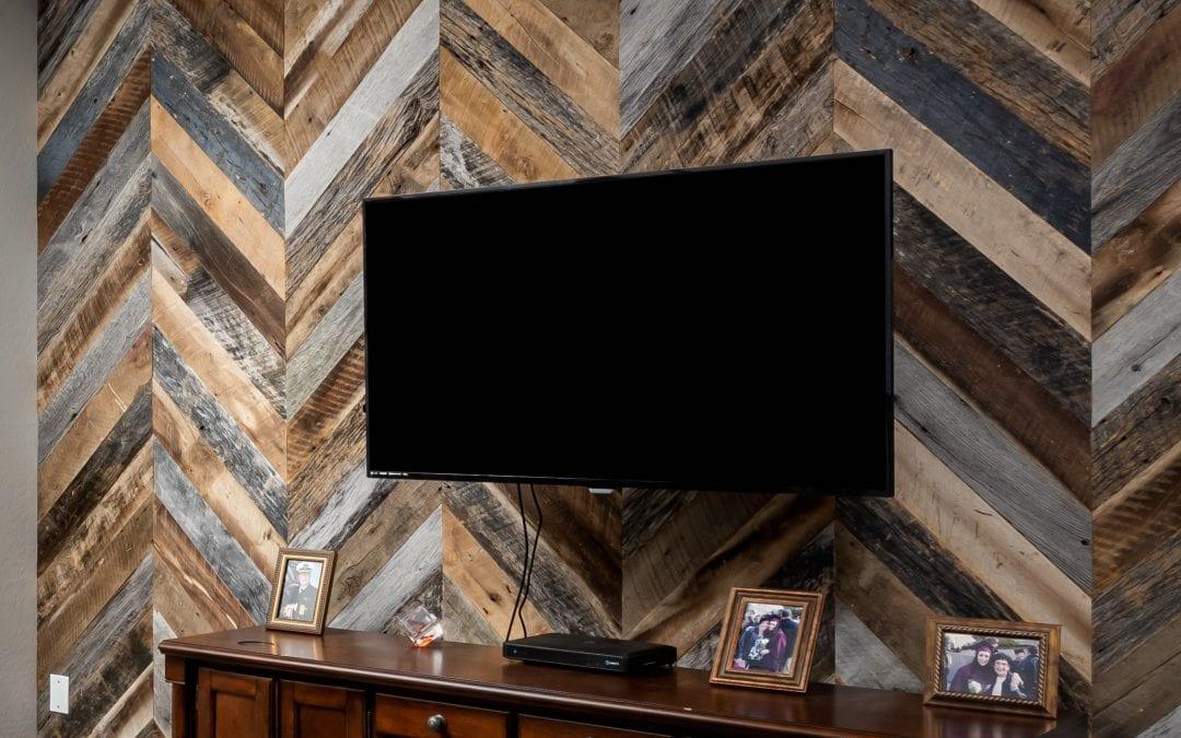 Chevron Reclaimed Wood Wall