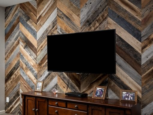 Chevron Reclaimed Wood Wall