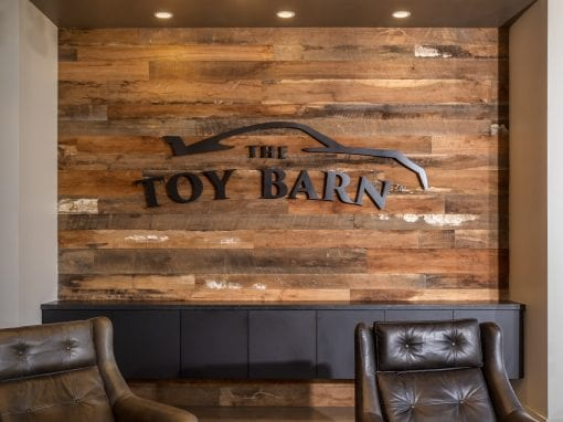 Toy Barn Wall & Custom Sign – Cave Creek
