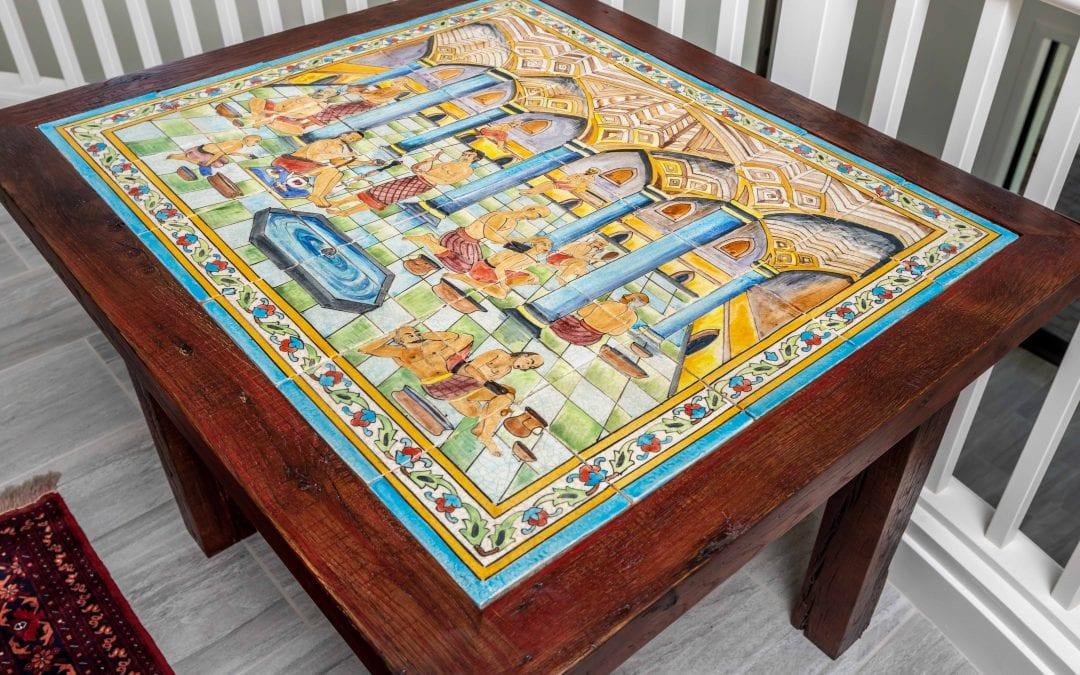 Afghan Tile Top Table