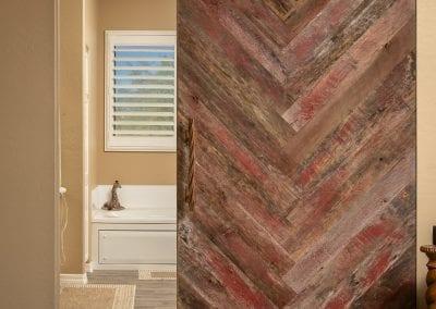 Speckled Grey & Red Chevron Pattern Door