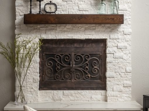 Reclaimed Living Room Mantel