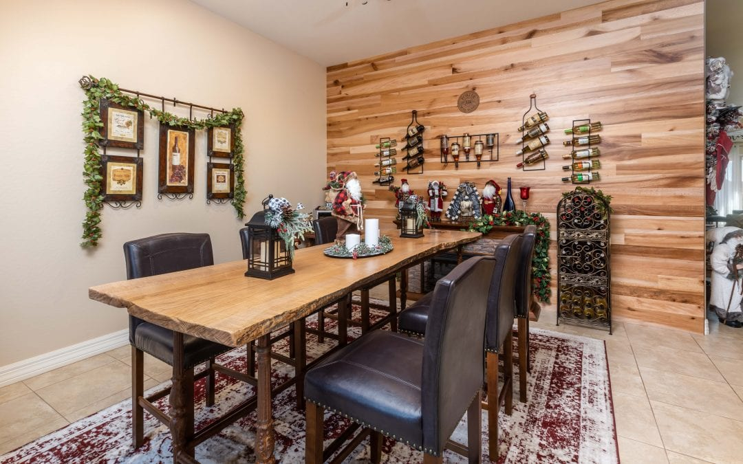 The Wine Room Table & Wall