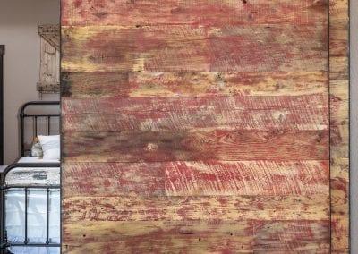 Red Reclaimed Bypass Doors