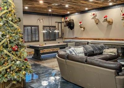 Reclaimed Wood Garage Ceiling