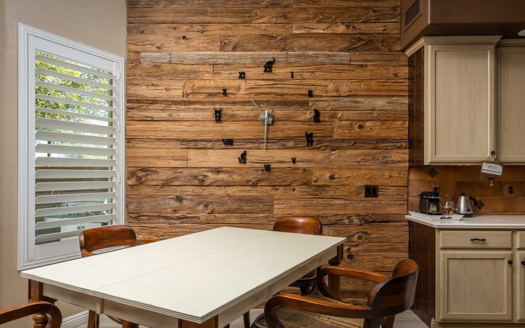 Mushroom Wood Clock Wall