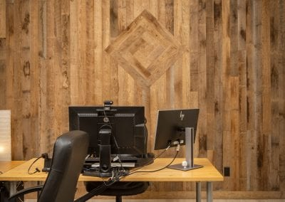 Reclaimed Home Office Wall