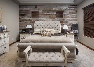 Reclaimed Tobacco Grey Master Bedroom Wall