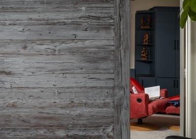 Custom Grey Mushroom Wood Sliding Door