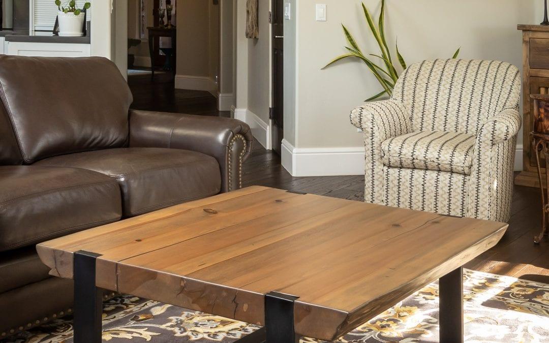 Cedar Live Edge Coffee Table & Base