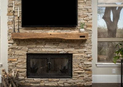 Reclaimed Living Room Mantel