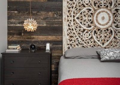 Speckled Black Master Bedroom