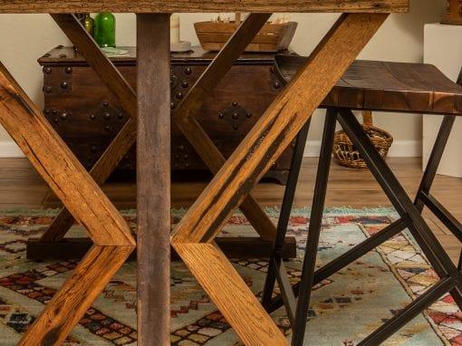 Wood & Steel Desk Base