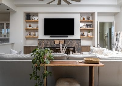 Live Edge Living Room Shelves