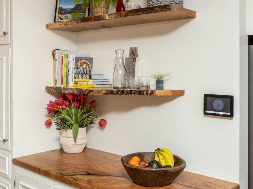 Spalted Sycamore Bar & Shelves