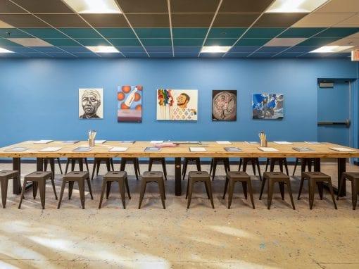 Alice Cooper art studio table