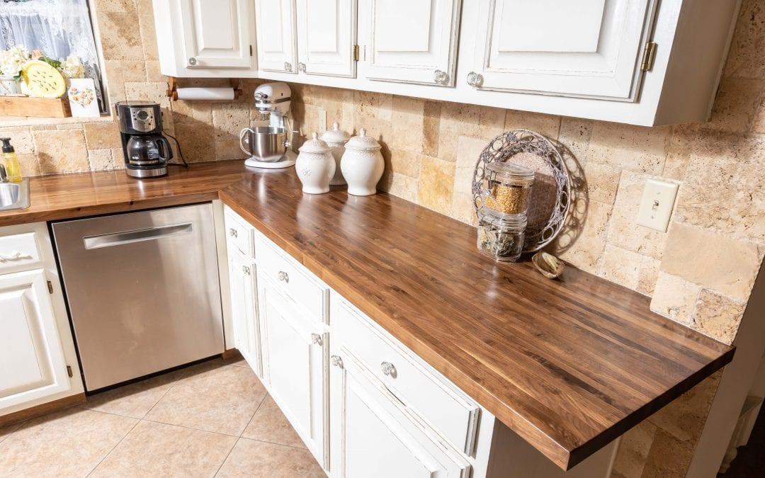 Custom Walnut kitchen countertops