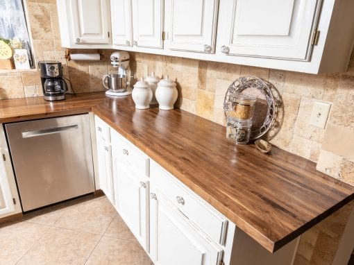 Custom Walnut kitchen countertops