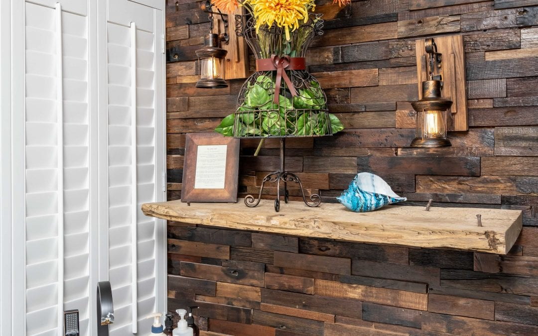Reclaimed Bathroom Shelf