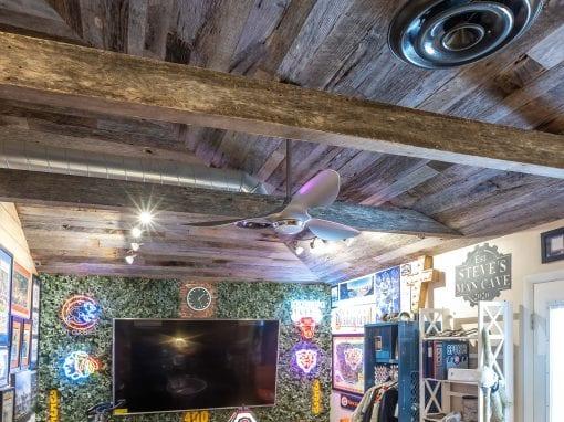 Tobacco Grey ceiling man-cave