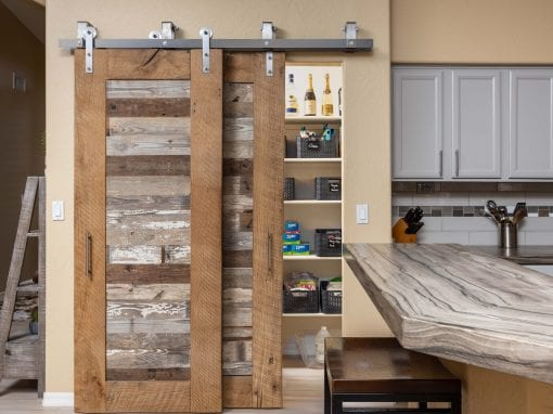 Reclaimed Bypass Pantry Doors