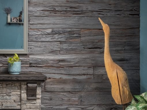 Custom Grey Mushroom Wood Wall