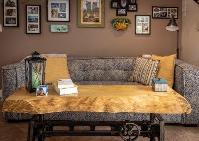 Live edge modern coffee table
