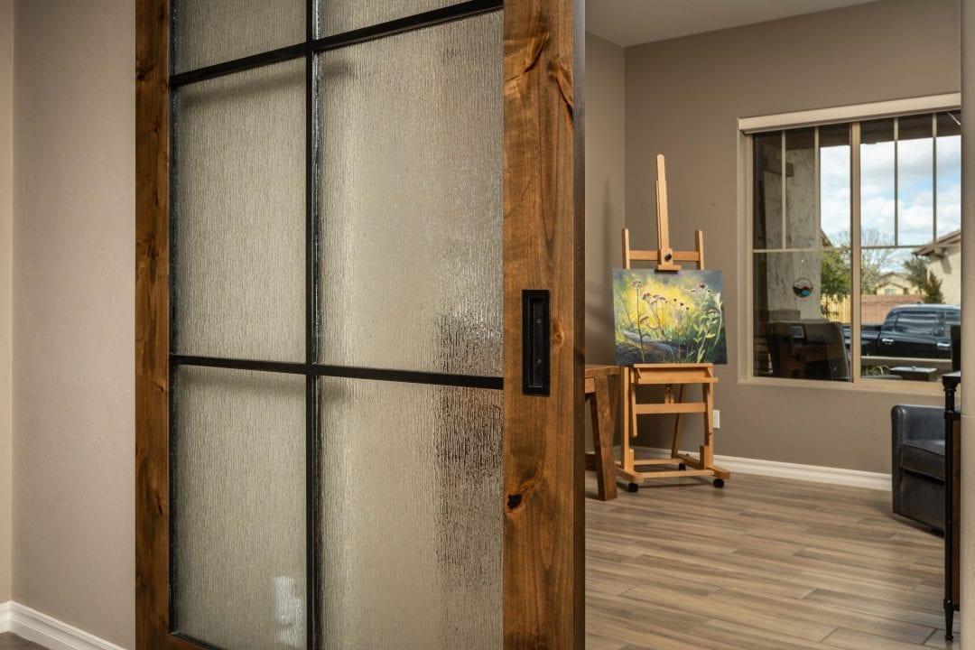 6 panel rain glass Alder Door
