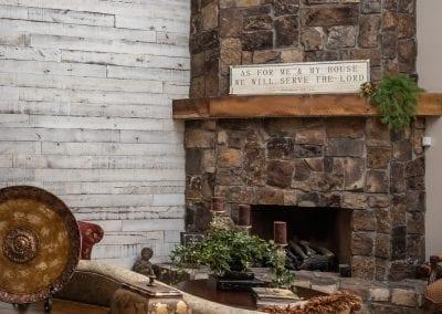 Formal Living Room Wall and Mantel