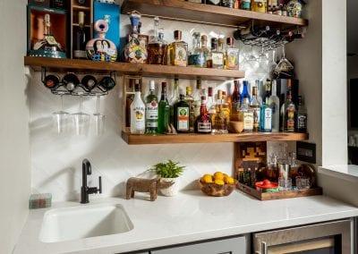 Reclaimed Bar Open Shelving