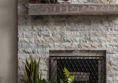 Grey Washed Reclaimed Mantel