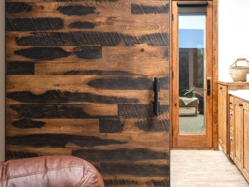 Speckled Black Sliding Bathroom Door