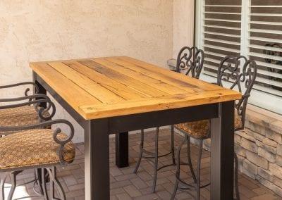 Steel Base & Mixed Hardwoods Hightop Table