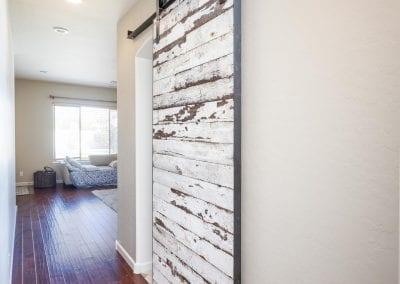 Speckled White Master Bedroom Sliding Door