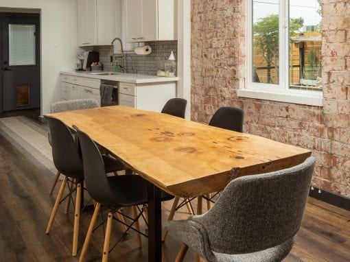 Shoestring Live Edge Dining Table